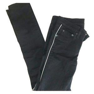 Rag & Bone for Intermix Black White Skinny Jeans